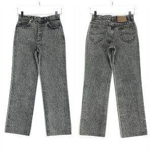 Vintage Lee Black Acid Wash High Rise Mom Jeans